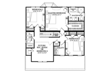 Traditional Floor Plan - Upper Floor Plan Plan #137-362