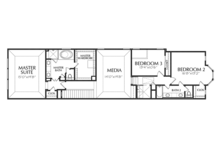 Traditional Floor Plan - Upper Floor Plan Plan #1021-18