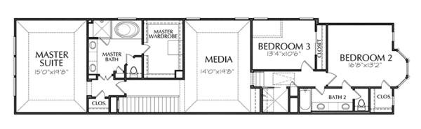 Traditional Floor Plan - Upper Floor Plan Plan #1021-18