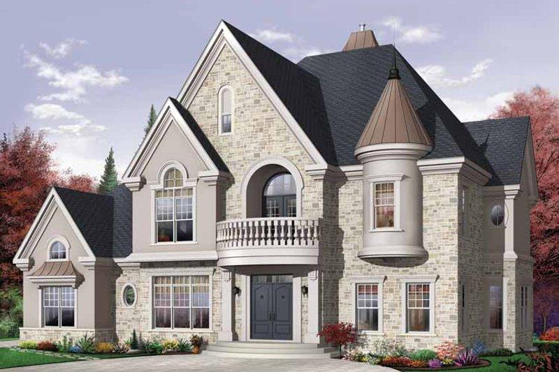 Architectural House Design - European Exterior - Front Elevation Plan #23-2418