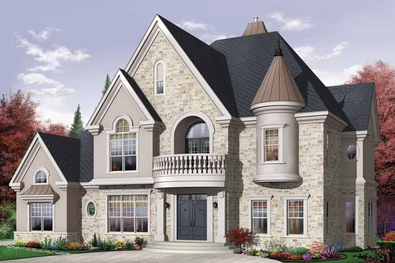 Dream House Plan - European Exterior - Front Elevation Plan #23-2418