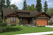 Craftsman Style House Plan - 3 Beds 2 Baths 1641 Sq/Ft Plan #48-560 Exterior - Front Elevation