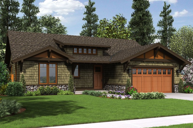 Home Plan - 3 bedroom 2 bath 1600 square foot craftsman house plan