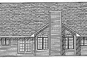 Traditional Style House Plan - 3 Beds 2.5 Baths 1802 Sq/Ft Plan #70-208 Exterior - Rear Elevation