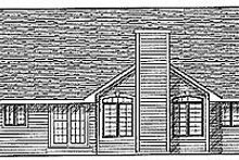 House Design - Traditional Exterior - Rear Elevation Plan #70-208