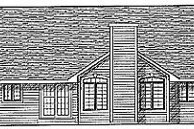 Traditional Exterior - Rear Elevation Plan #70-208 - Houseplans.com