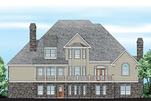 House Plan Design - European Exterior - Rear Elevation Plan #927-359