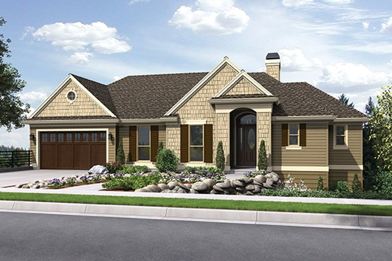 Architectural House Design - Traditional Exterior - Front Elevation Plan #48-915