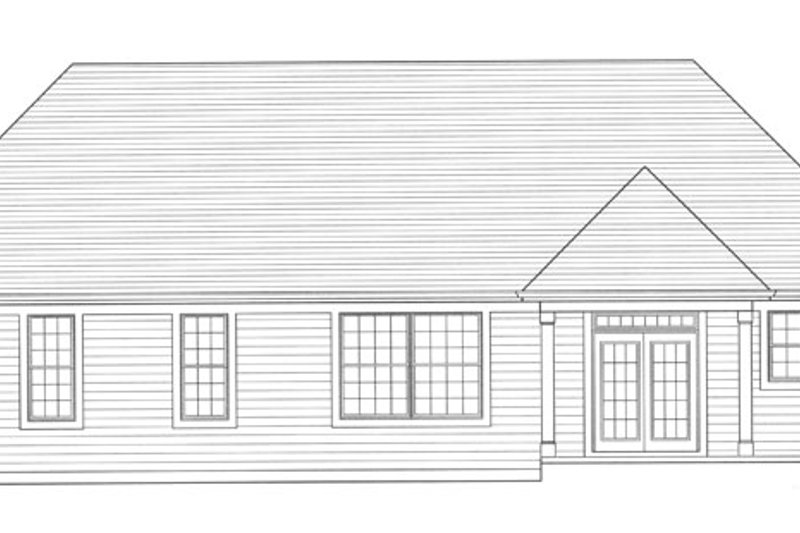 Traditional Exterior - Rear Elevation Plan #46-839 - Houseplans.com