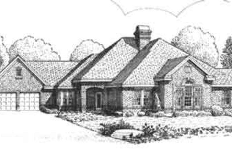European Exterior - Front Elevation Plan #410-358 - Houseplans.com