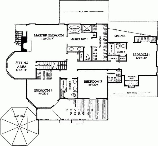 Victorian Floor Plan - Upper Floor Plan Plan #137-249