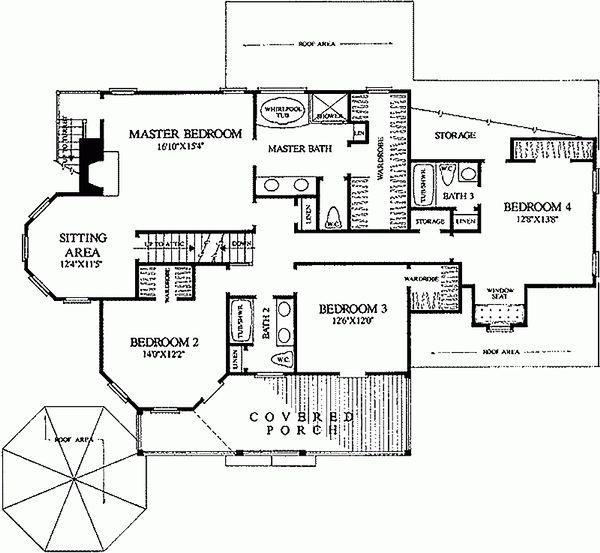 Architectural House Design - Victorian Floor Plan - Upper Floor Plan #137-249