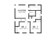 Farmhouse Style House Plan - 3 Beds 2.5 Baths 1394 Sq/Ft Plan #48-992 Floor Plan - Upper Floor