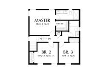 Farmhouse Floor Plan - Upper Floor Plan Plan #48-992