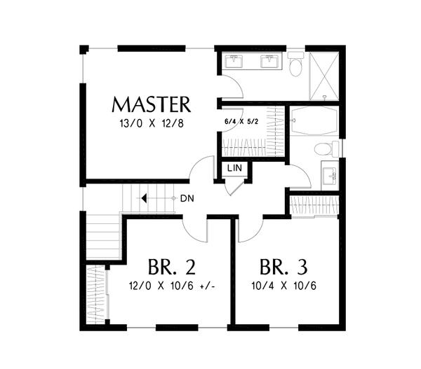 House Design - Farmhouse Floor Plan - Upper Floor Plan #48-992