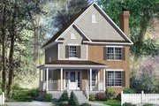 European Style House Plan - 3 Beds 1.5 Baths 1500 Sq/Ft Plan #25-4164 Exterior - Front Elevation