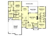 Country Style House Plan - 3 Beds 2 Baths 2239 Sq/Ft Plan #430-167 Floor Plan - Main Floor