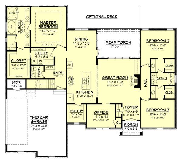 Dream House Plan - Country Floor Plan - Main Floor Plan #430-167