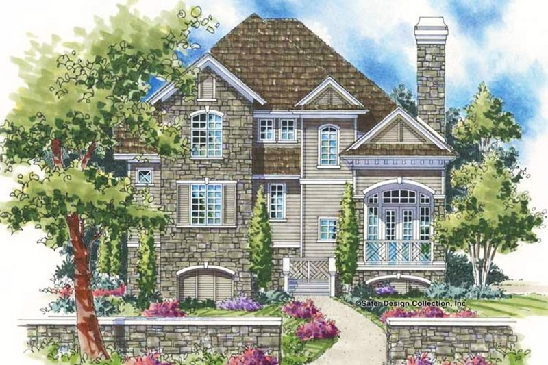 European Style House Plan - 3 Beds 2.5 Baths 2349 Sq/Ft Plan #930-129 Exterior - Front Elevation