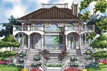 Home Plan - Classical Exterior - Rear Elevation Plan #930-76