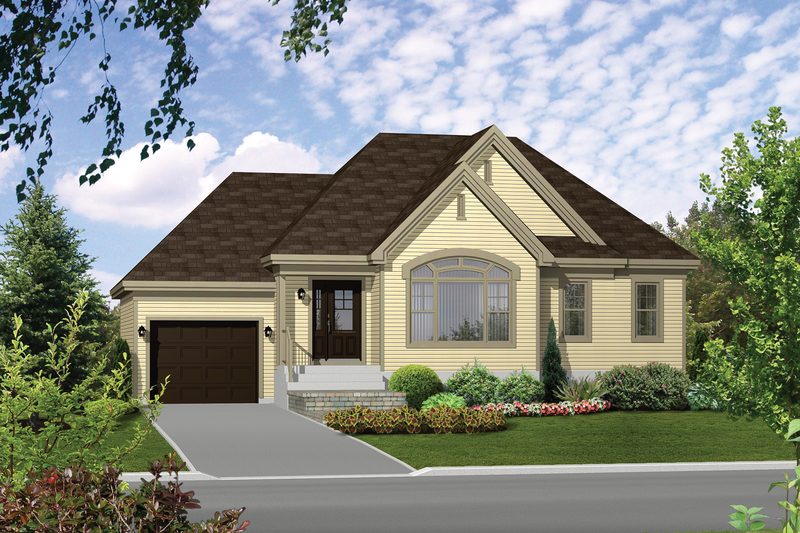 Traditional Style House Plan - 2 Beds 1 Baths 1051 Sq/Ft Plan #25-4366 Exterior - Front Elevation