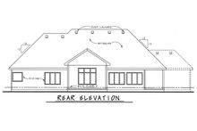 House Plan Design - European Exterior - Rear Elevation Plan #20-2128