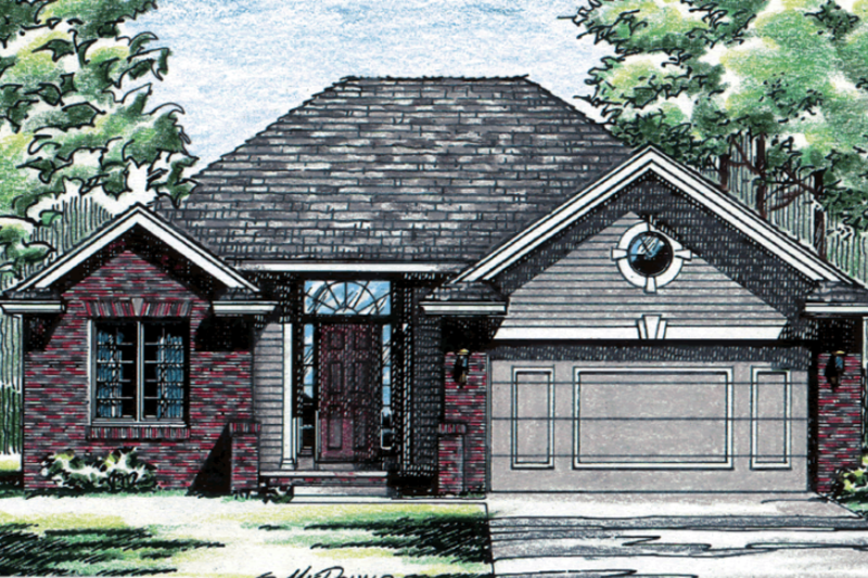 Traditional Exterior - Front Elevation Plan #20-412