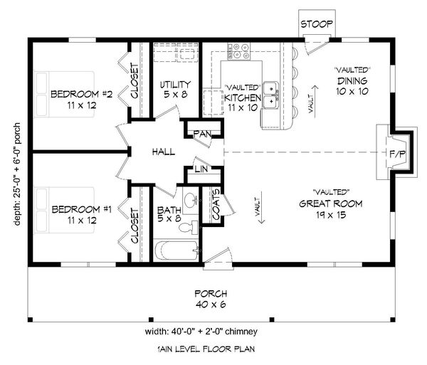 Country Floor Plan - Main Floor Plan Plan #932-163