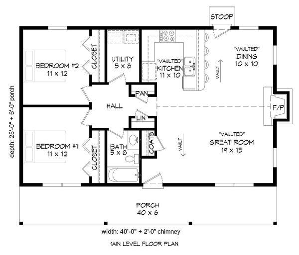 Dream House Plan - Country Floor Plan - Main Floor Plan #932-163