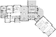 Country Style House Plan - 3 Beds 3.5 Baths 3947 Sq/Ft Plan #928-333 Floor Plan - Main Floor
