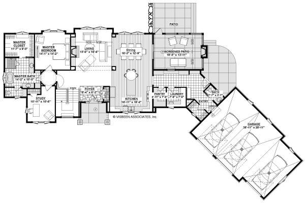 House Plan Design - Country Floor Plan - Main Floor Plan #928-333