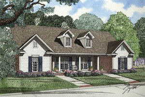 Country Exterior - Front Elevation Plan #17-2562