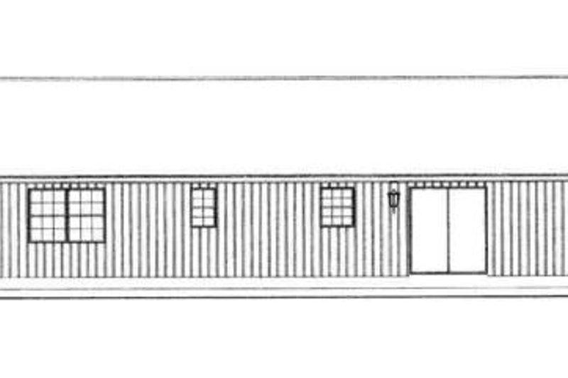 Ranch Exterior - Rear Elevation Plan #72-225 - Houseplans.com
