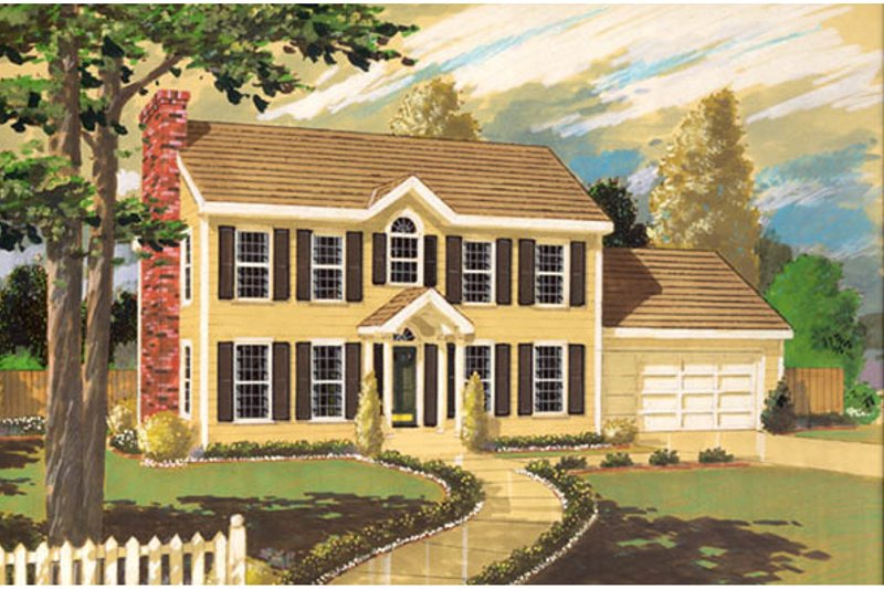 Classical Exterior - Front Elevation Plan #3-247