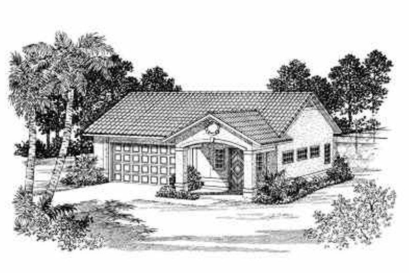 Mediterranean Exterior - Front Elevation Plan #72-265