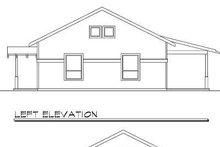 Craftsman Exterior - Rear Elevation Plan #124-544