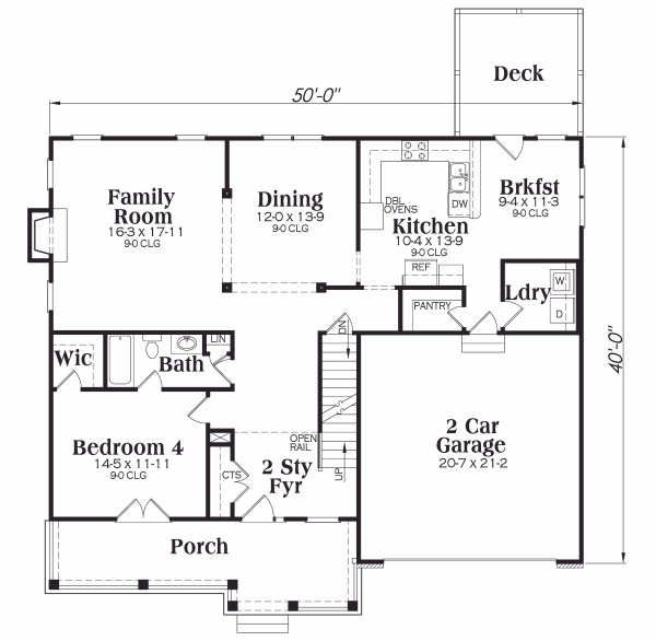 Traditional Floor Plan - Main Floor Plan #419-140