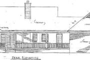 Traditional Style House Plan - 3 Beds 2 Baths 1765 Sq/Ft Plan #14-118 Exterior - Rear Elevation