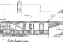 Dream House Plan - Traditional Exterior - Rear Elevation Plan #14-118