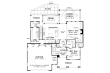 Colonial Floor Plan - Main Floor Plan Plan #929-977