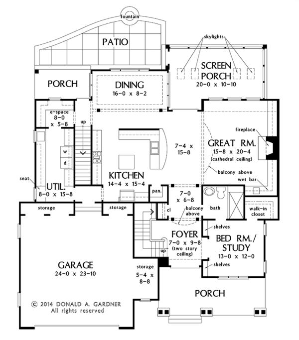 House Plan Design - Colonial Floor Plan - Main Floor Plan #929-977