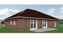 Ranch Exterior - Rear Elevation Plan #44-206