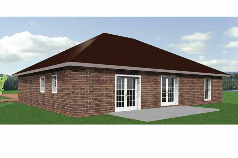 Ranch Exterior - Rear Elevation Plan #44-206 - Houseplans.com
