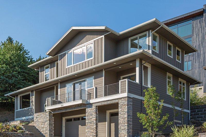 House Plan Design - Prairie Exterior - Front Elevation Plan #48-922