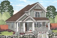 House Plan Design - Country Exterior - Front Elevation Plan #513-2165