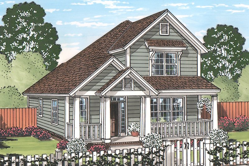 Country Exterior - Front Elevation Plan #513-2165 - Houseplans.com