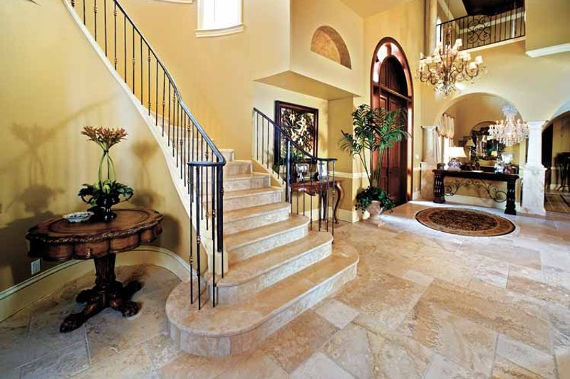 Mediterranean Interior - Entry Plan #1017-14 - Houseplans.com