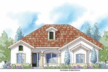 Home Plan - Mediterranean Exterior - Front Elevation Plan #938-42