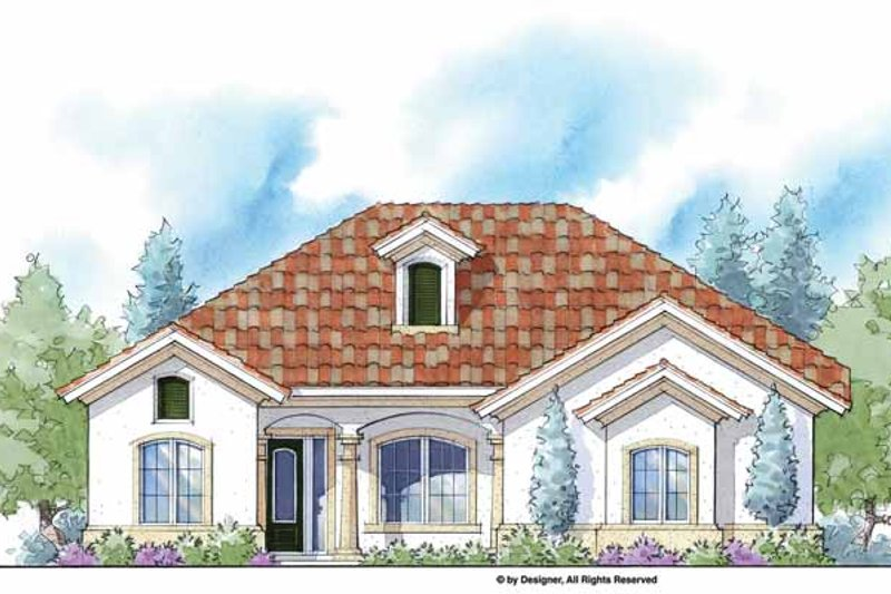 Mediterranean Exterior - Front Elevation Plan #938-42