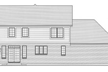Dream House Plan - Traditional Exterior - Rear Elevation Plan #46-899